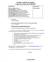 COMPTE RENDU SEANCE DU 17 JUIN 2019