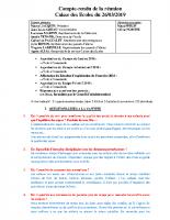 COMPTE RENDU SEANCE DU 26 MARS 2019