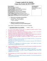 COMPTE RENDU SEANCE DU 26 NOVEMBRE 2019