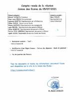 COMPTE RENDU SEANCE DU 5 JUILLET 2021