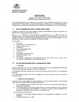 STATUTS CAISSE DES ECOLES