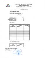 PV ELECTION 2019 CA CAISSE DES ECOLES DE SAINT-VULBAS