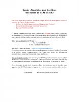 Circulaire d'inscription rentrée 2020 2021 CLASSE DE MS AU CM2