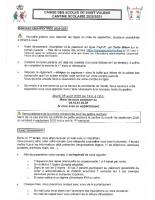 INFO RENTREE SCOLAIRE 2020 2021