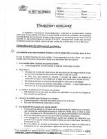 REGLEMENT TRANSPORT SCOLAIRE 2020-2021